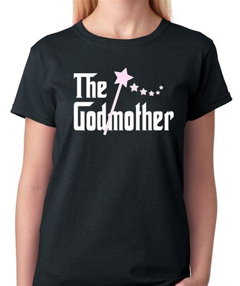 Tshirt The Godson Black Name the godmother t shirt for all the proud godmothers out there