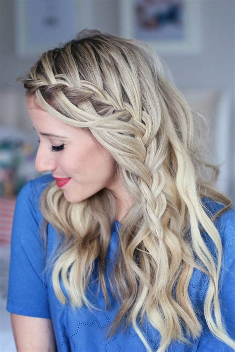 cute girls hairstyles for your crush 3 in 1 cascading waterfall build able hairstyle cute
