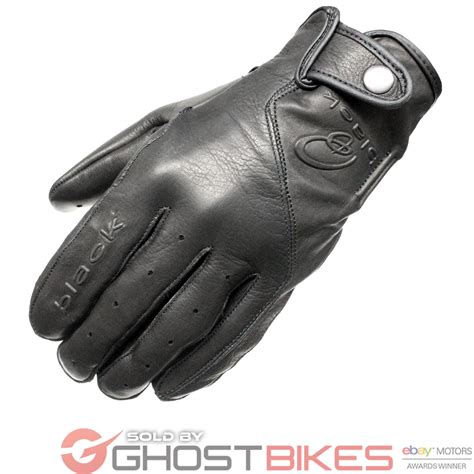 vintage motocross gloves black static leather classic vintage fashion motorcycle