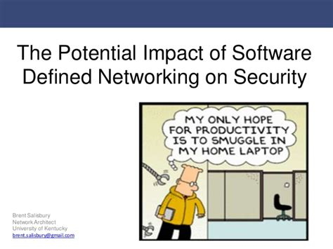 the potential impact of software defined networking sdn on