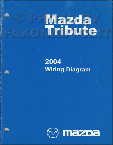 2004 mazda tribute wiring diagram manual original