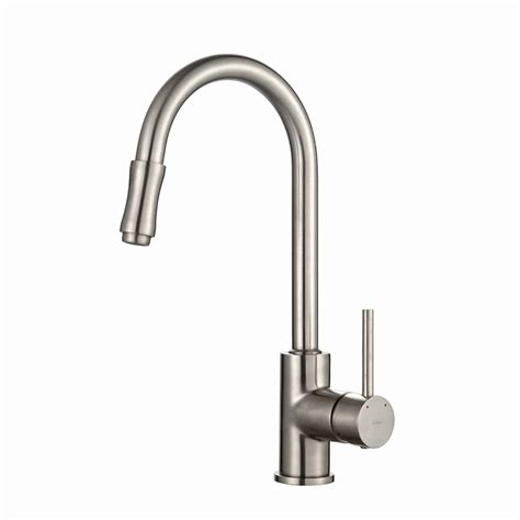 kraus kitchen faucets kraus single handle pull kitchen faucet in satin nickel kpf 1622sn the home depot