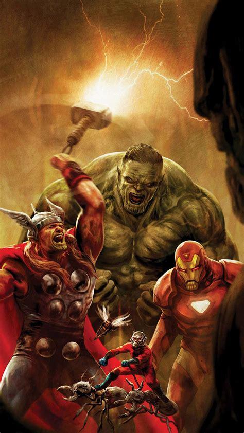 avengers comic cartoon iphone  wallpapers hd