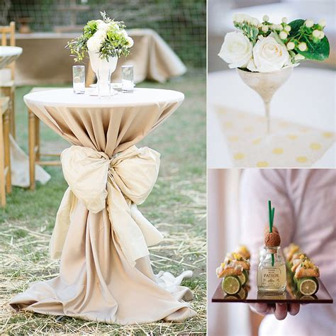 wedding at home decorations wedding cocktail reception decor popsugar home