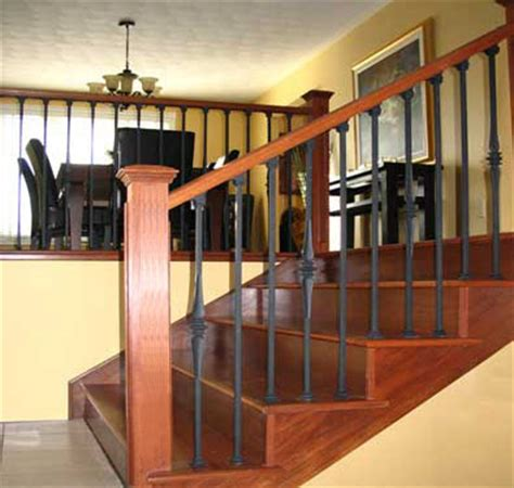 wrought iron and wood banisters lacasse wrought iron railings for interior installation