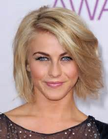 bobs hairstyle with side swoop julianne hough short voluminous bob hairstyle with side