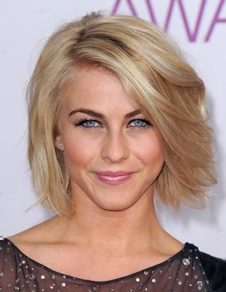 julianne hough bob haircut pictures short voluminous bob hairstyle with side swept bangs
