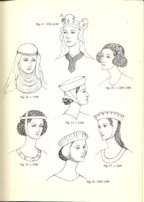 middle ages hairstyles glossary of english hairstyles and headdress jewels