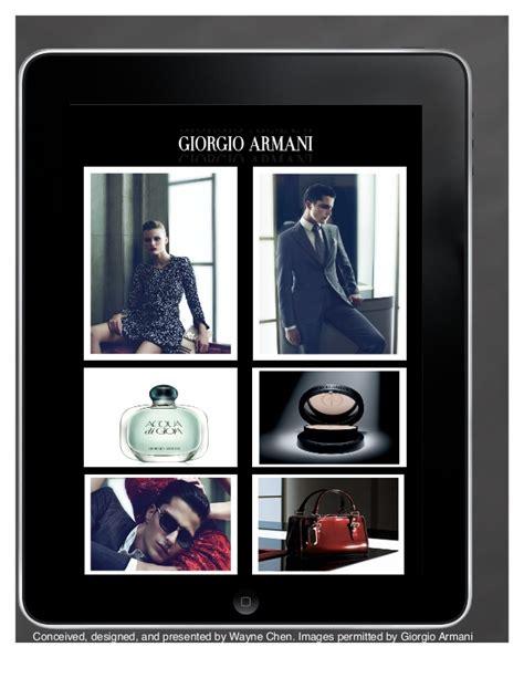 giorgio armani mobile giorgio armani mobile app by wayne chen