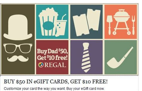 Regal Cinema Gift Cards Where To Buy - regal cinemas buy 50 in e gift cards get 10 promo card for free shopportunist