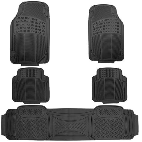 Heavy Duty Rubber Car Floor Mats by 5pc All Weather Heavy Duty Rubber Black Auto Floor Mats
