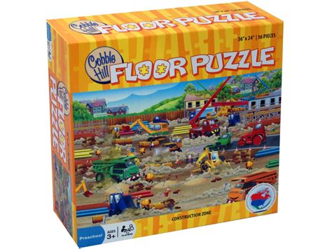 Floor Puzzles by Construction Zone 36 Pc Floor Jigsaw Puzzle Puzzle