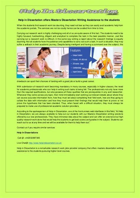 dissertation writing assistance help in dissertation offers masters dissertation writing