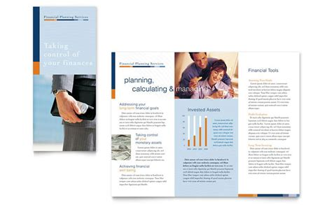 esi card template financial planning consulting brochure template design