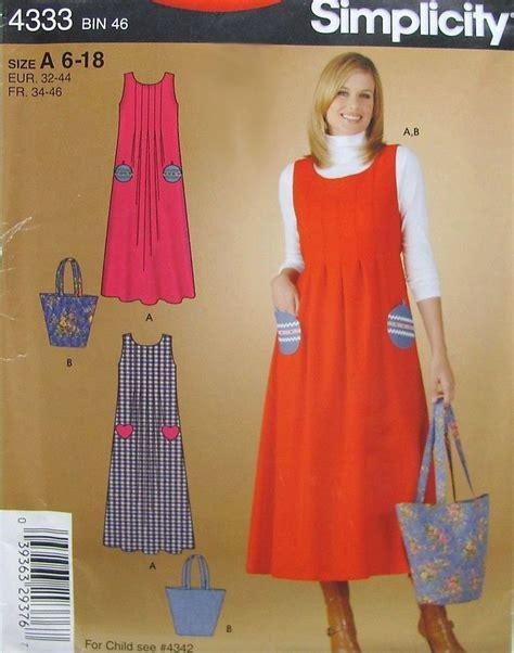 jumper pattern simplicity simplicity pattern 4333 misses women s jumper dress
