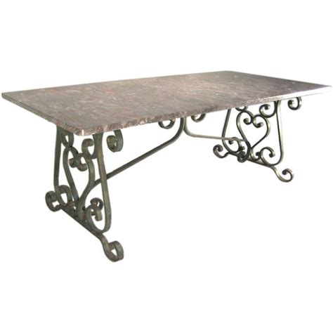 wrought iron dining room table base 1900 s wrought iron marble top dining table to be