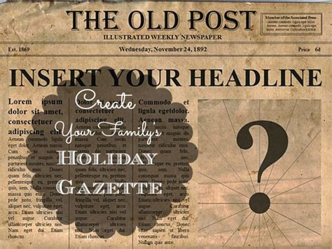 Make Your Own News Paper - create your family s newspaper