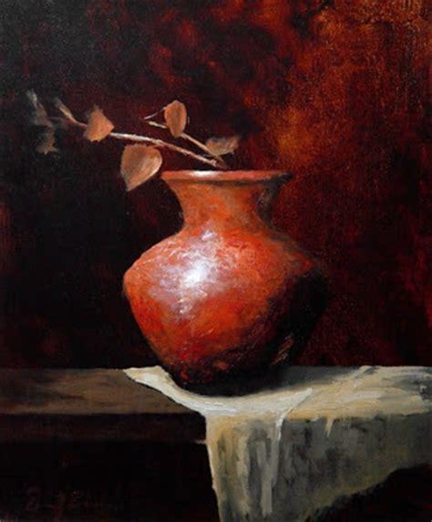 daniel edmondson studio antique clay vase painting