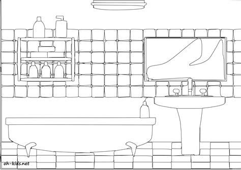 Salle De Bain Dessin coloriage salle de bain oh fr