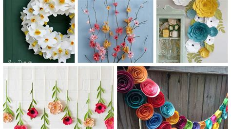 spring decoration paper flowers spring decor ideas spring decorating ideas