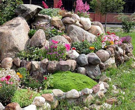 large rocks for gardens rock garden design tips 15 rocks garden landscape ideas