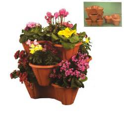 garden trio planter stackable flower pot