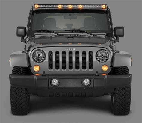 Quadratec 174 J5 Led Light Bar With Amber Clearance Cab Led Light Bar Jeep