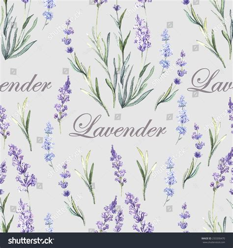 watercolor botanical pattern watercolor lavender botanical seamless hand painting