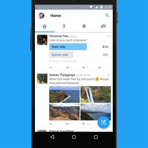 new twitter layout android twitter s new android ui launches today for everybody