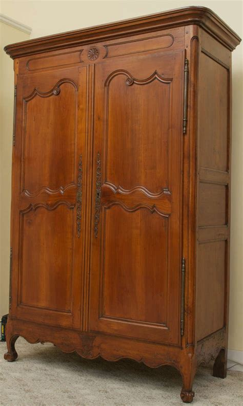 armoire cherry wood 18th century cherry wood louis xv armoire at 1stdibs