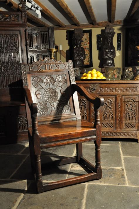 exquisitely carved mid  century english dated