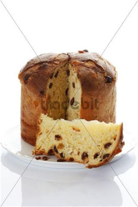 Panettone Italienischer Kuchen Aufgeschnitten