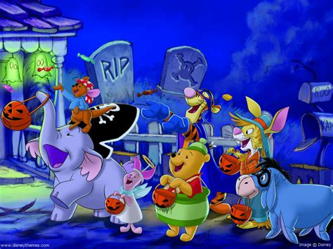 imagenes de halloween de winnie pooh disney halloween screensavers and wallpaper wallpapersafari