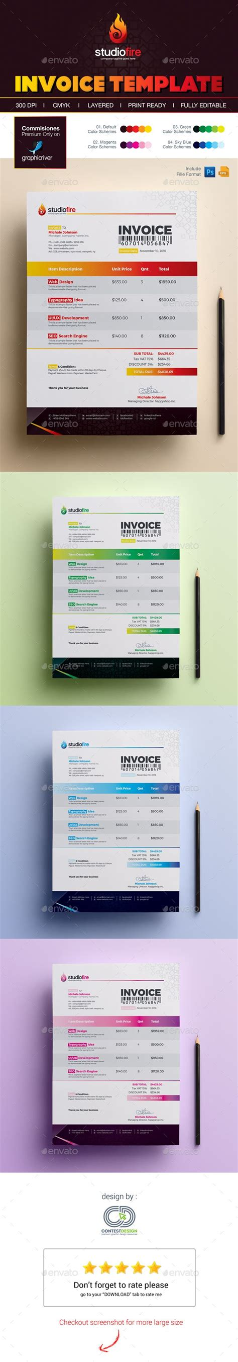 illustrator invoice template 1000 ideas about invoice template on