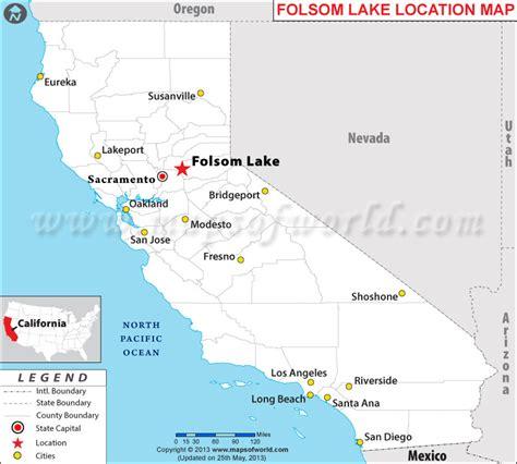 folsom ca map where is folsom lake located in california usa