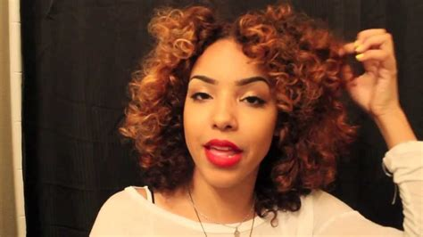permanent curls for black hair roller set tutorial for curly hair using perm rods youtube
