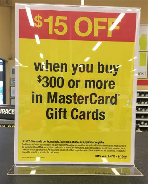 Accounting For Gift Cards - earn a profit on mastercard gift cards at office depot office max accounting your points