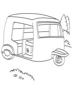 free auto rickshaw coloring pages