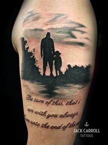 black and white dad and daughter tattoo tattoos