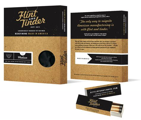 design brief box flint and tinder the dieline packaging branding