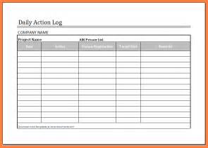 Work Log Excel Template by Doc 600730 Work Log Template Work Log Template 7 Free