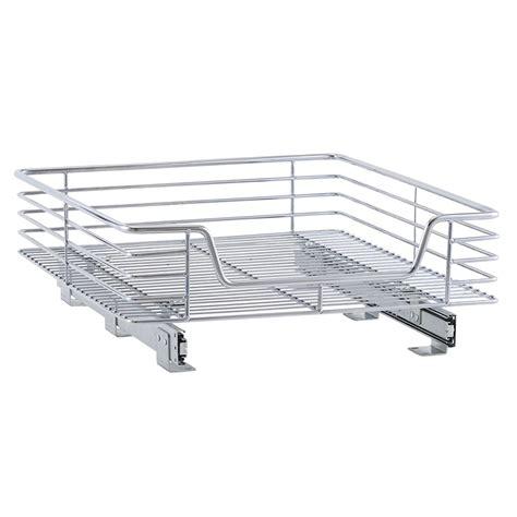sliding cabinet organizer 20 inch chrome sliding cabinet organizer in pull out baskets