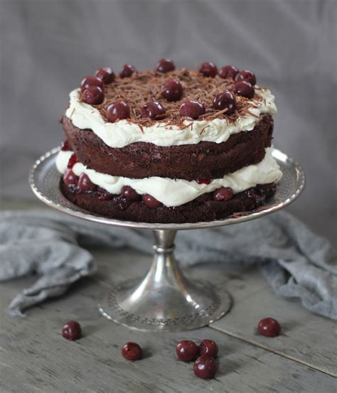 black forest cake black forest cake with fresh cherries