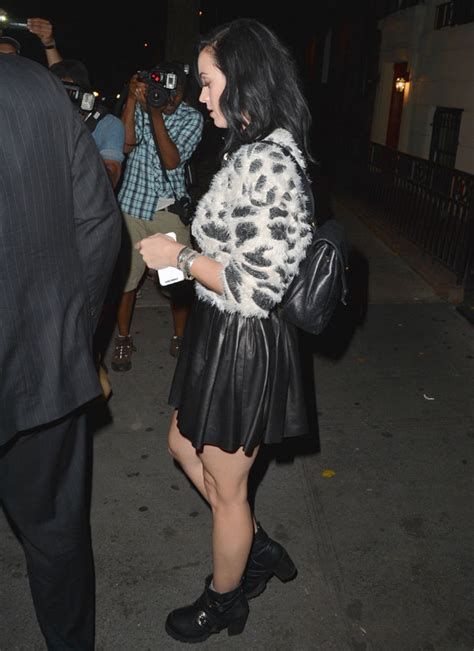 roar katy perry wears fluffy animal print jumper and