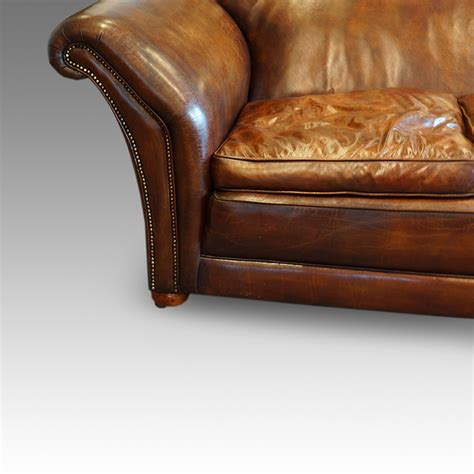 Country Leather Sofa Edwardian Country House Leather Sofa Hingstons Antiques Dealers