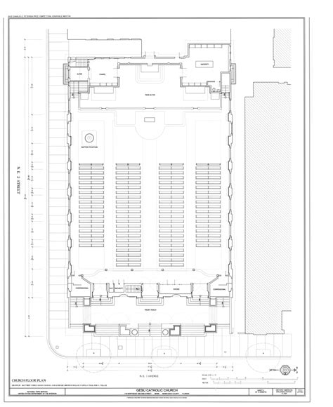 catholic church floor plans file church floor plan gesu catholic church 118