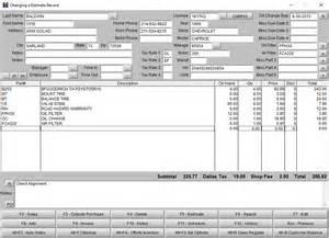 Auto Brake Repair Estimate Auto Repair Software Automotive Software And Tire