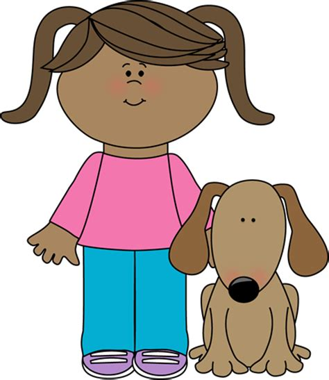 good house pets besides dogs cats girl with pet dog clip art girl with pet dog image