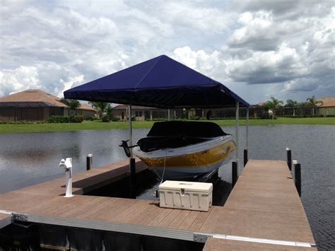 floating boat dock canopy gallery naples dock marine services naples florida