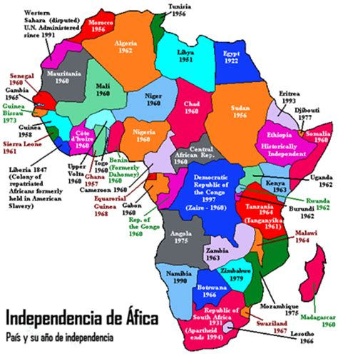 mapa dafrica politic mapas de africa el geeky